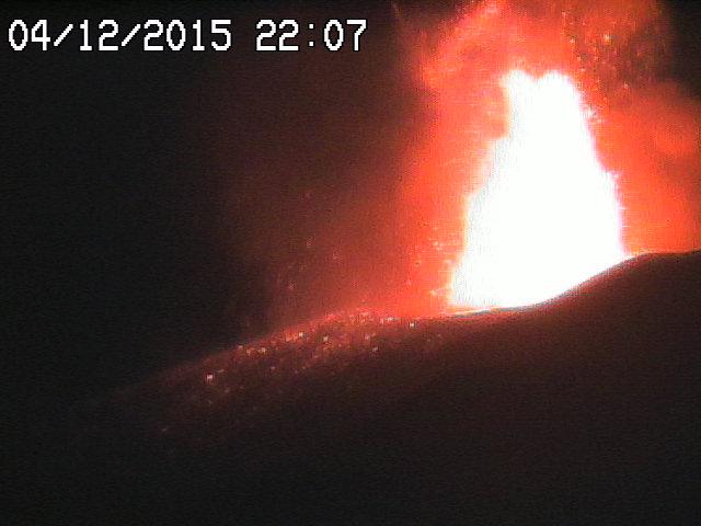 Lava fountain half an hour ago