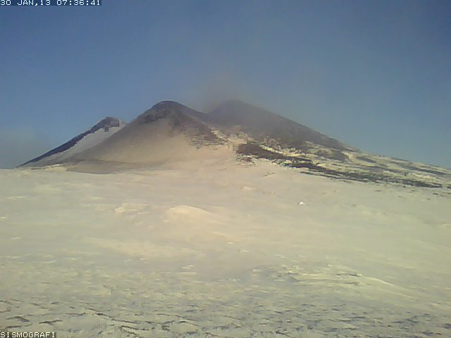 Etna's New SE crater this morning
