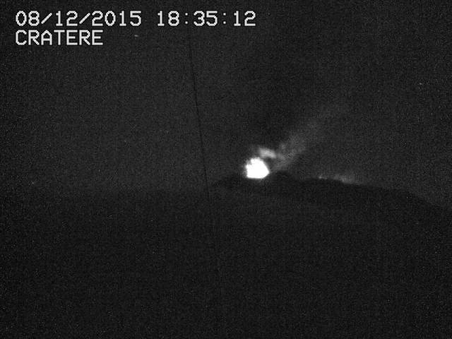 Explosion from NE crater