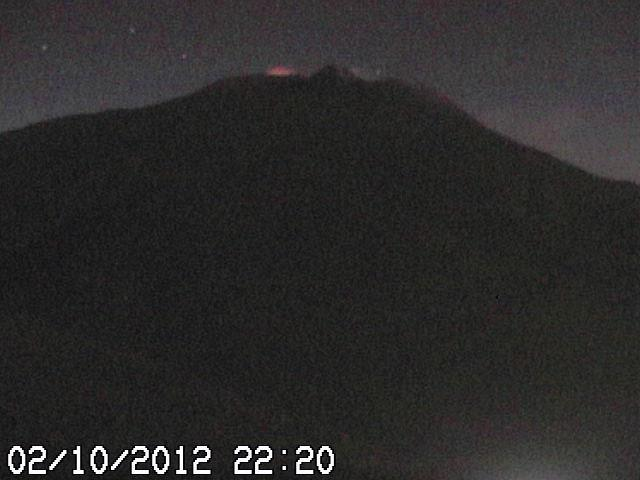 Webcam image from last night