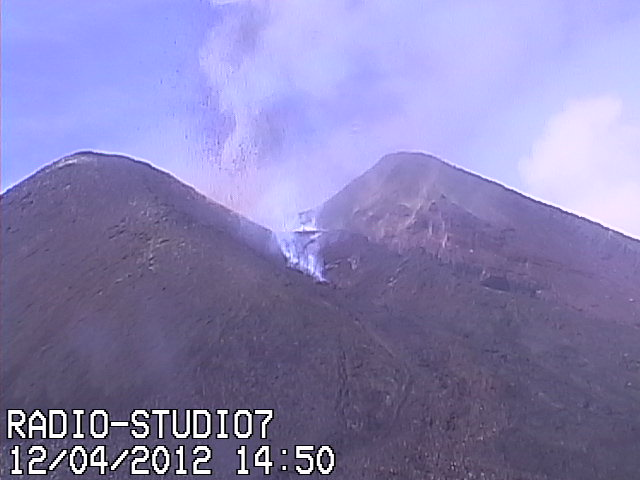 Lava flow emerging from the fissure of the NSEC