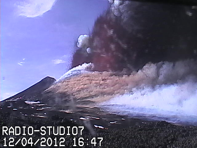 Multiple lava fountains
