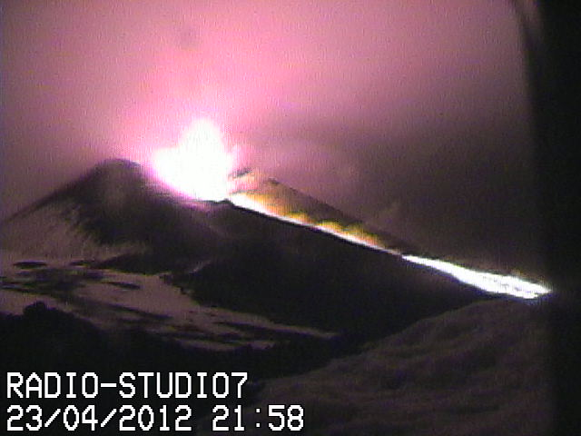 Strombolian activity and the lava flow from the NSEC