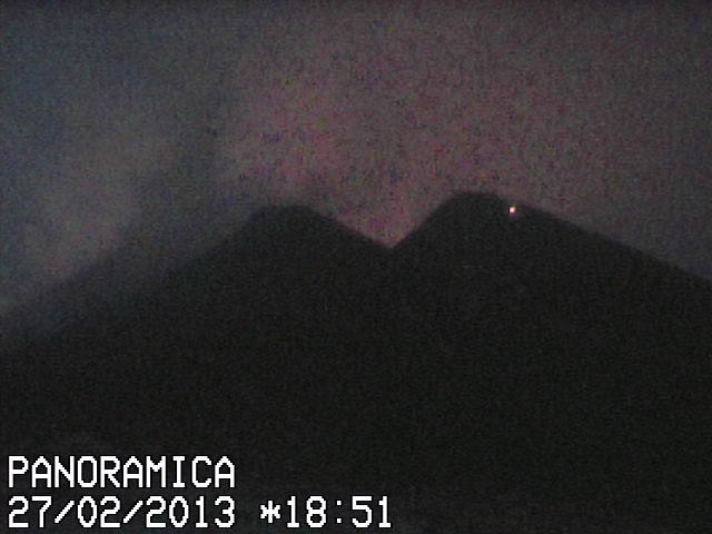 Etna's New SE crater this evening