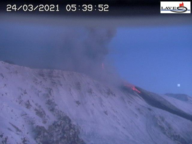 Ongoing activity this morning (image: LAVE webcam)