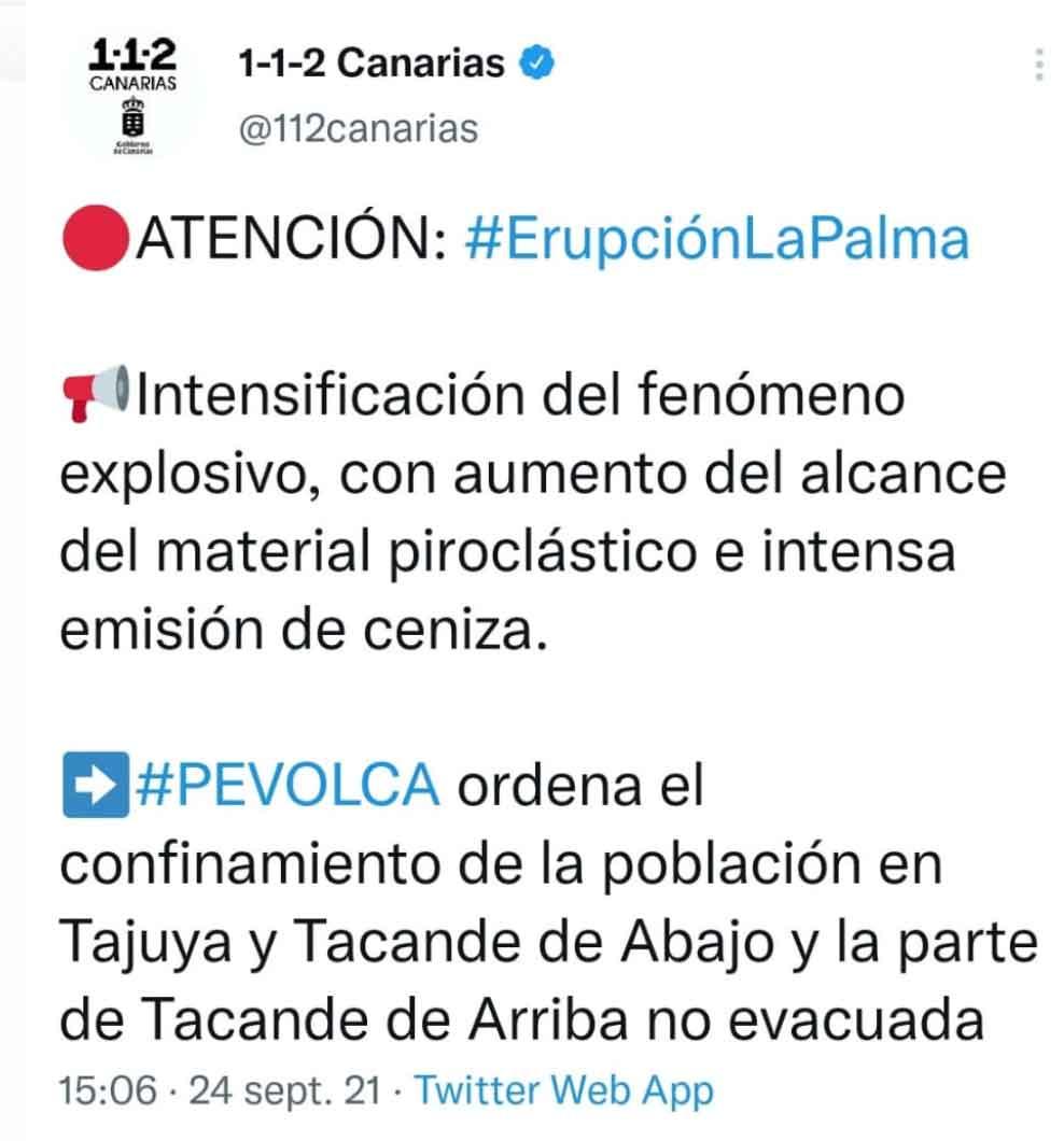Evacuation order for Tacande and Tajuya