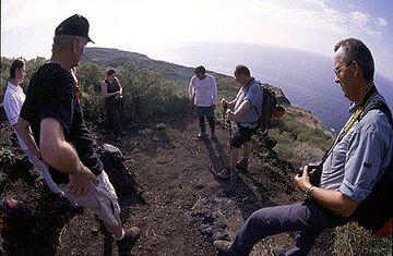 Fotos der Reise vom Vulkan Ätna in Sizilien zur Vulkaninsel Stromboli im Oktober 2005