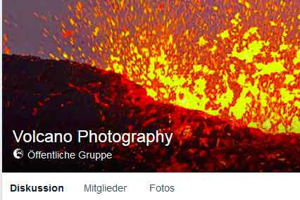 Volcano Photography on facebook