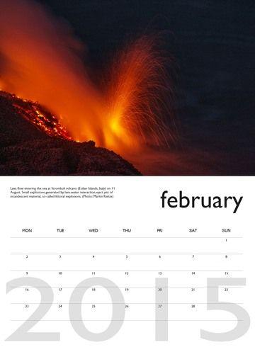 Vulkankalender 2014 - Januar