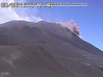 Partial collapse on the eastern flank of the New SE crater ((Radiostudio7 webcam)