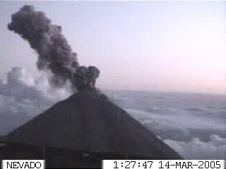 Webcam photo of Colima volcano