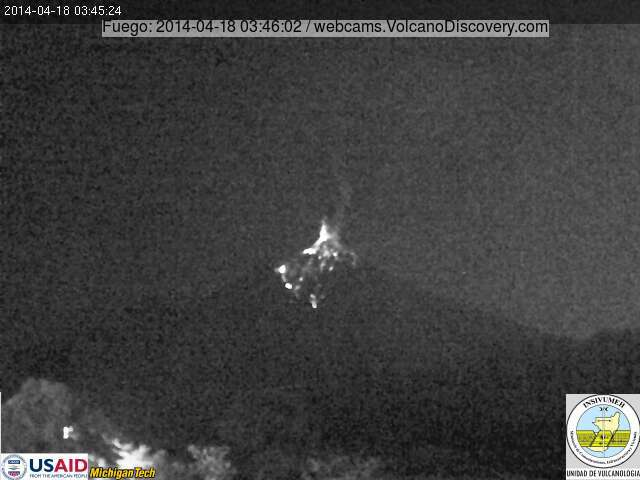 Explosion from Fuego volcano this morning