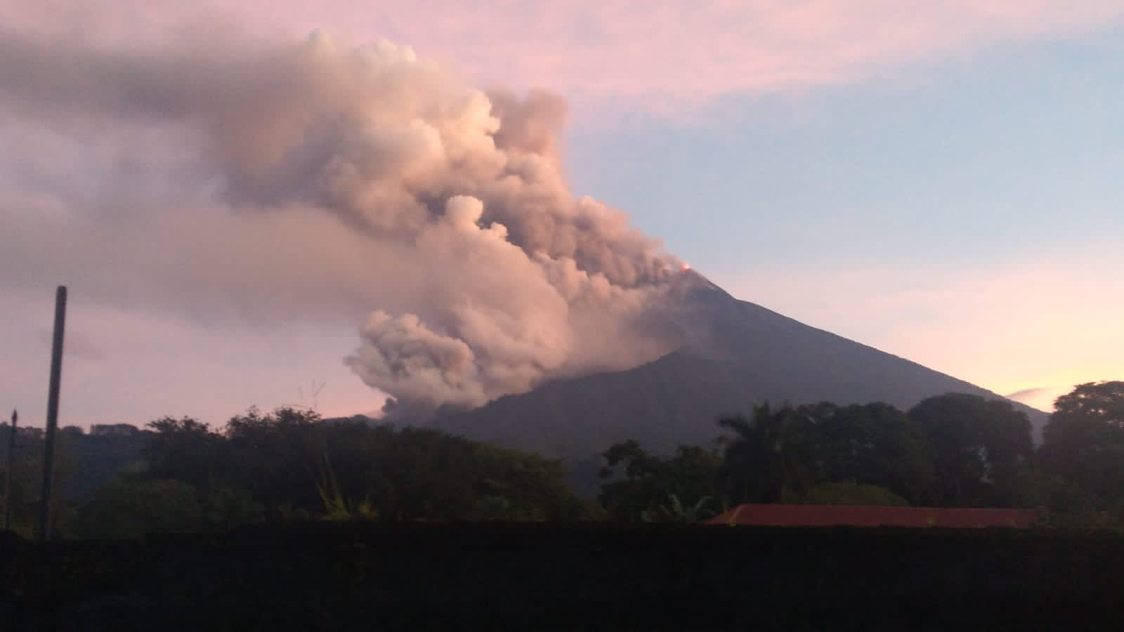 Phoenix clouds followed by the pyroclastic flow at Fuego volcano today (image: @William_Chigna/twitter)