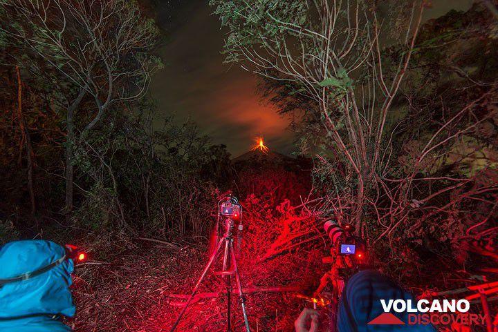 At a new campsite near Fuego volcano in Guatemala
