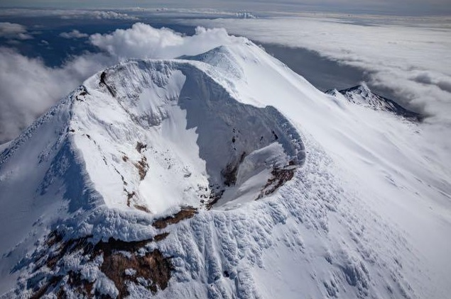 Aerial photo of the summit of Gareloi volcano from 23 May (image: AVO)