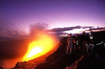 Hawaii´s Vulkane sind fast immer aktiv und so kann man fast immer tolle Vulkanfotos machen