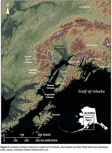 Location of Hayes volcano (from: Waythomas and Miller, 2002)