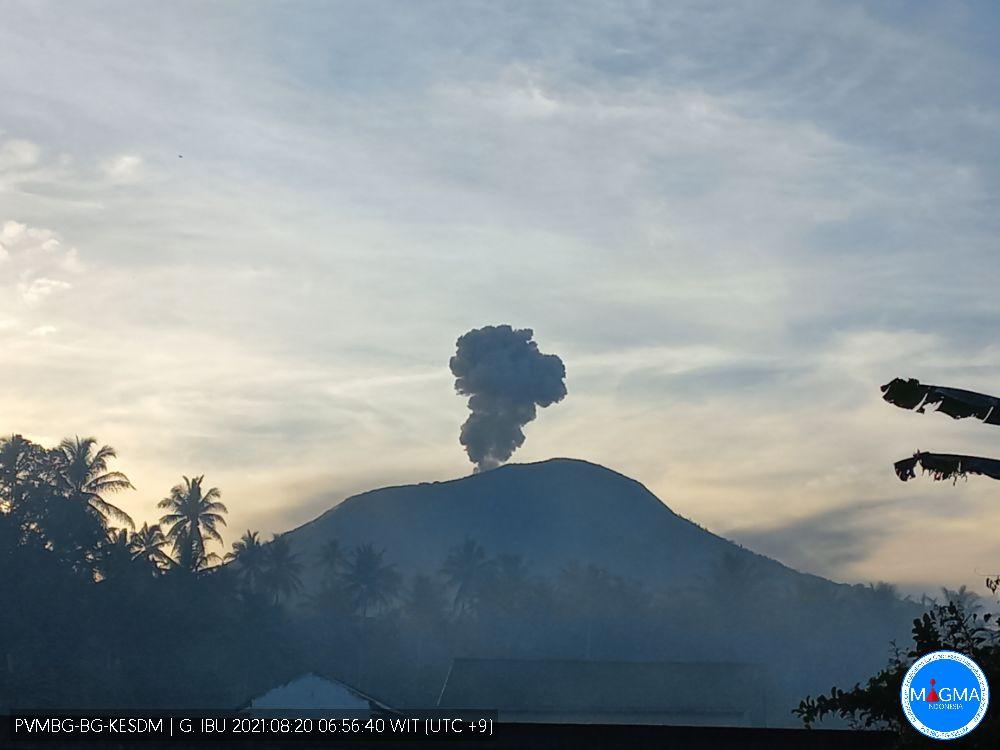 Vulcanian activity at Ibu volcano a few days ago (image: PVMBG)