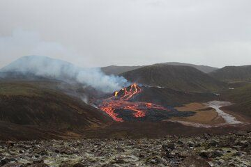 View of the ongoing eruption in Iceland (image: IMO / twitter)