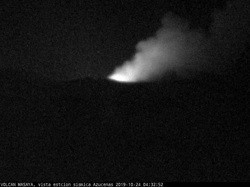 minor ashfall on 24 October from Masaya volcano (image: INETER)