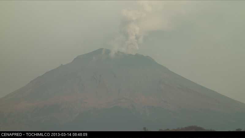 Current webcam image of Popocatépetl (CENAPRED)
