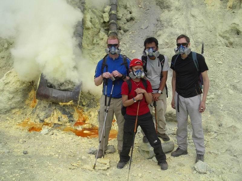 Gruppe der Bromo-Semeru-Ijen Tour (Sep. 2006)