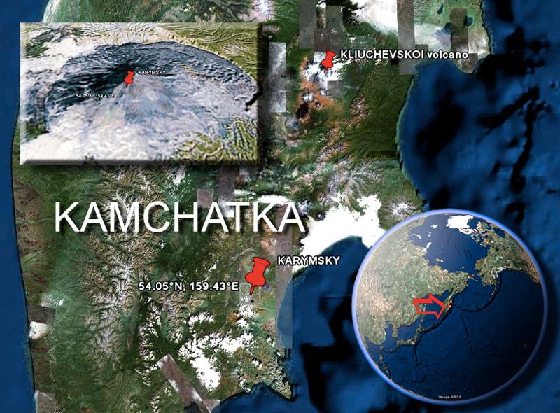 Karymski Satelite Image by (c) Google & NASA