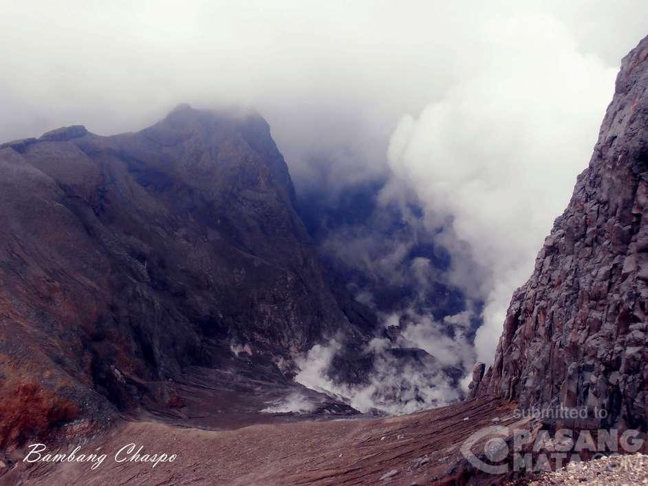 Part of Kelut's crater area on 25 Feb (image: Pasang Mata)