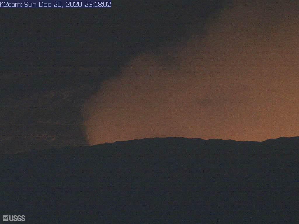 Glow from Kilauea's Halema'uma'u crater
