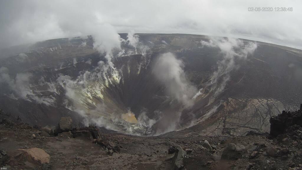 Kilauea caldera captured from HVO's KWcam (C) U.S. Geological Survey