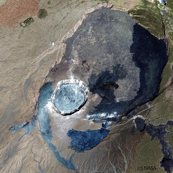 Kilauea volcano sat by (C) NASA