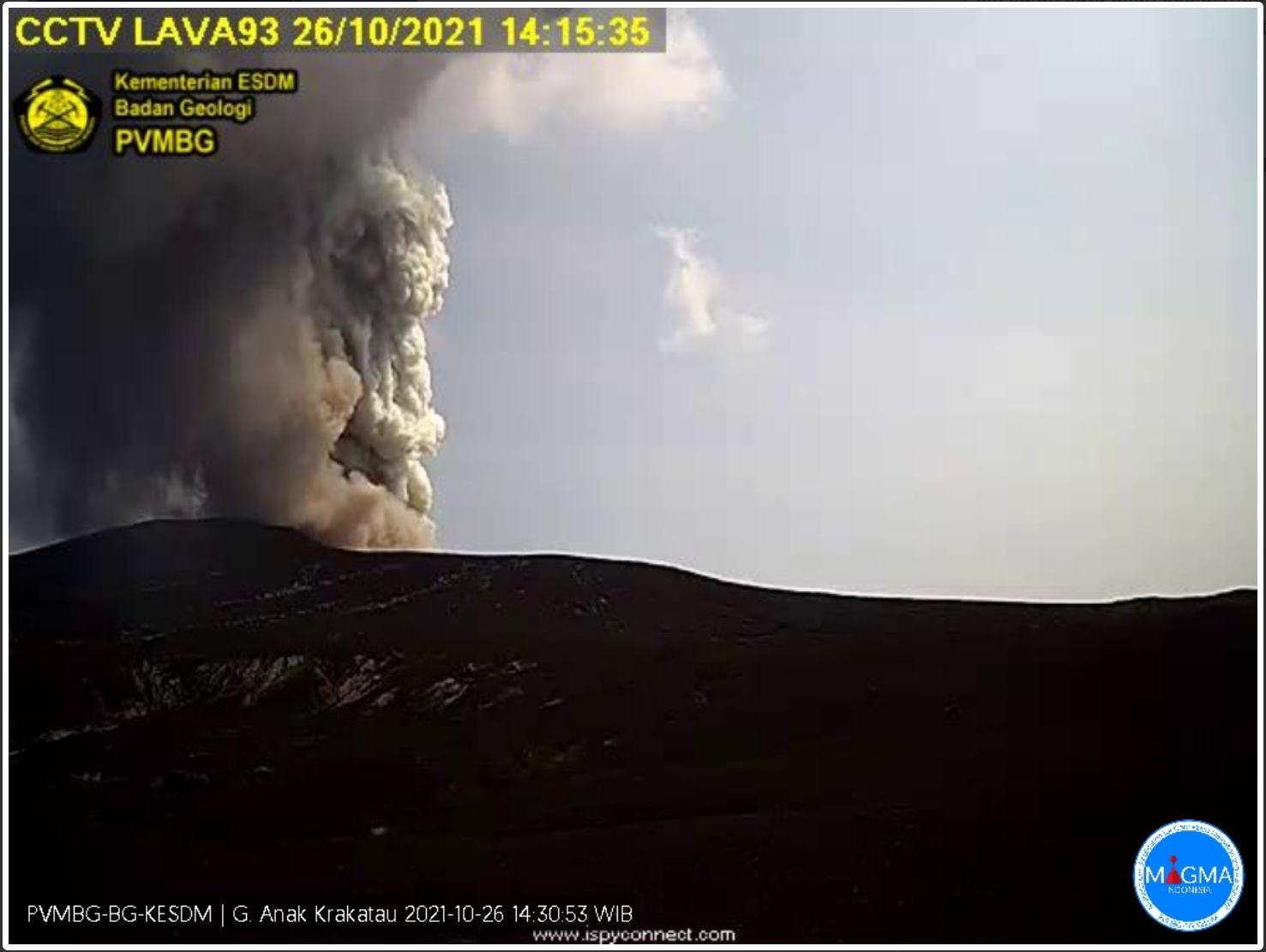 Eruption from Krakatau yesterday (image: PVMBG)
