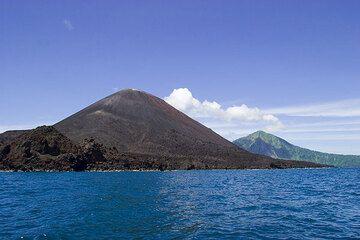 Anak Krakatau and Rakata in the background