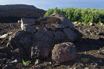 Volcanic bomb on Anak Krakatau