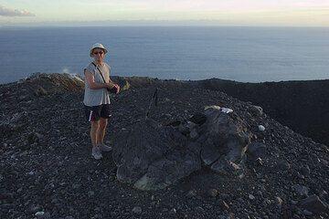 On the rim of Krakatau's crater