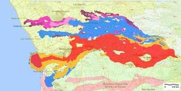 Latest lava flow map (image: IGME)