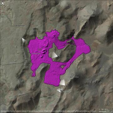 Updated map of the areas covered with lava so far (image: Ragnar Heiðar Þrastarson from IMO @RagnarHeidar / twitter)