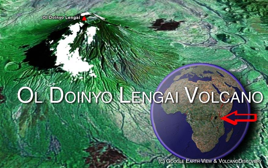Satellite image of Ol Doinyo Lengai volcano by (c) Google Earth View