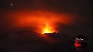 Strombolian activity at Lewotolo volcano today (image: @InfoBencan/twitter)