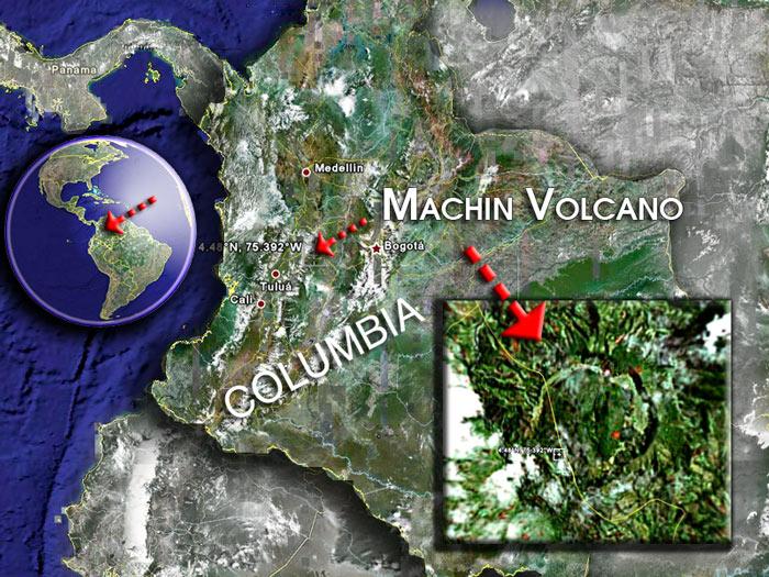 Machin volcano satellite image by (c) Google Earth View