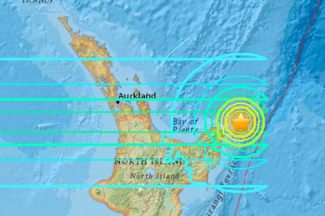 Location of the mag 7.2 earthquake on 1 Sep 2016, New Zealand