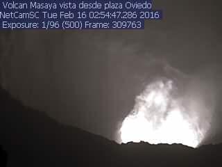 Masaya's lava lake this morning (INETER webcam)
