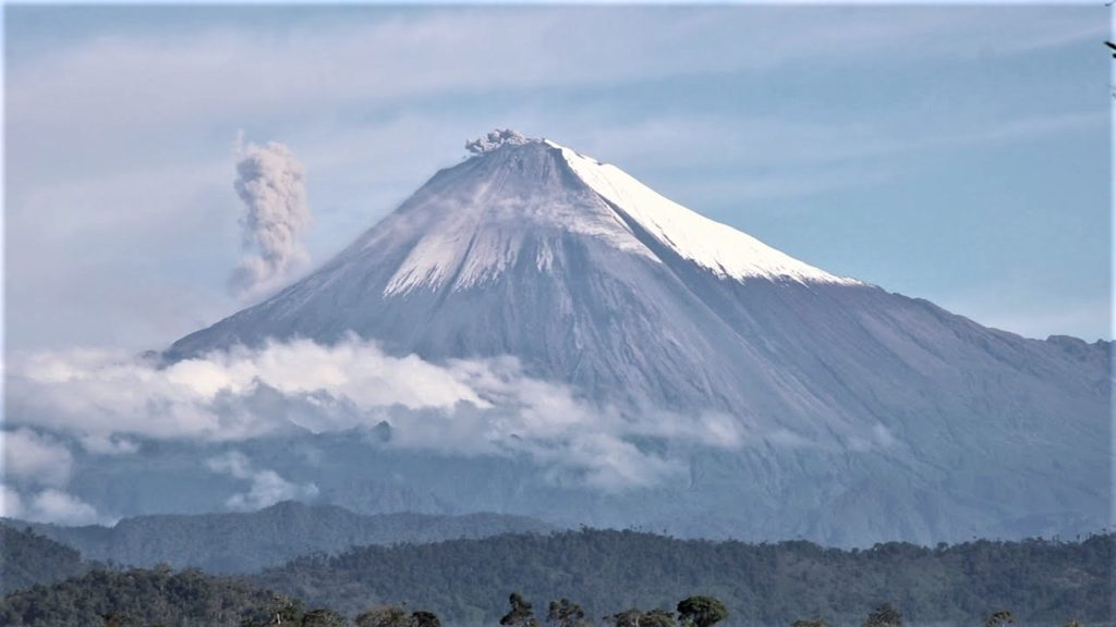 Great view of the volcano. Credit: IGEPN.