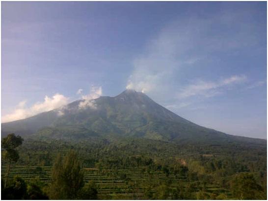 Merapi vulkaan onlangs (VSI)