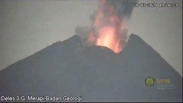 Eruption from Merapi volcano on 28 March (image: BPPTKG)