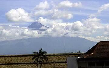 Merapi volcano seen from Yogyakarta