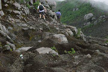 Descending from Merapi