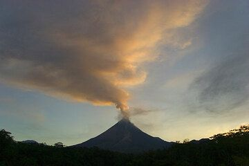 Steam cloud over Merapi