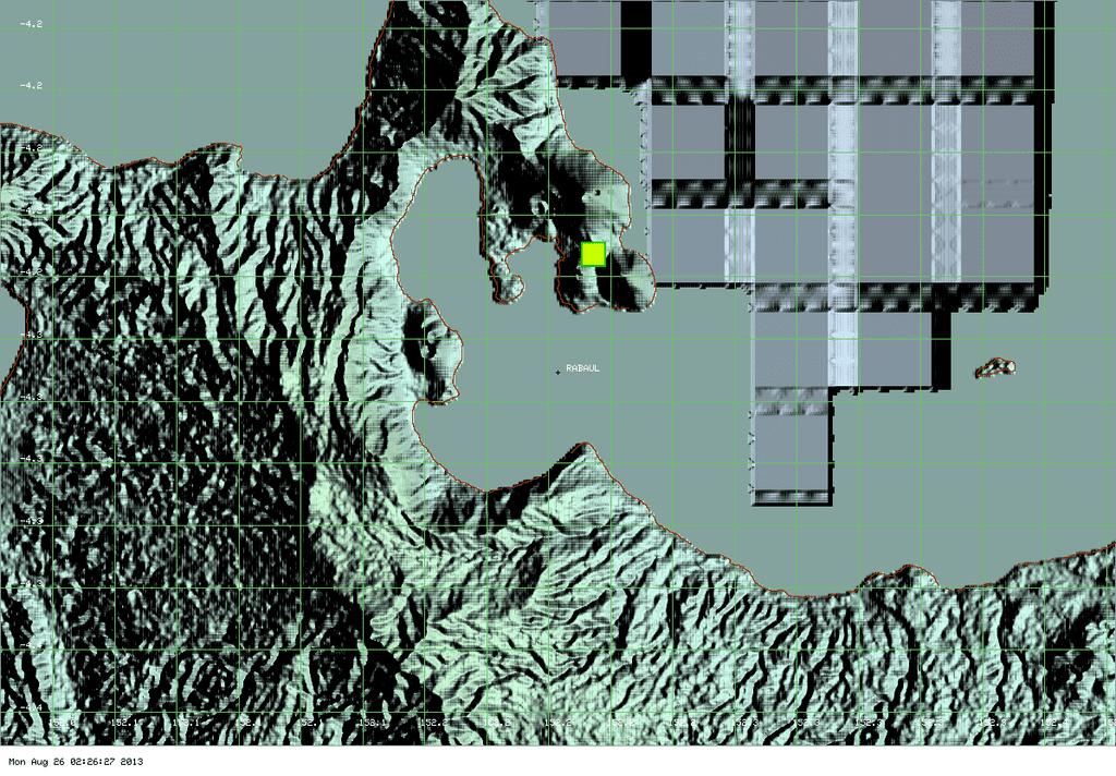 MODIS hot spot data (past 7 days) for Tavurvur volcano (ModVolc, Univ. Hawaii)