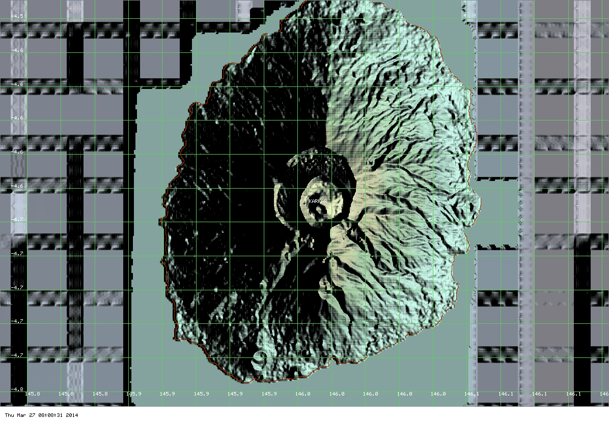 Karkar volcano - no hot spot is visible on MODIS data